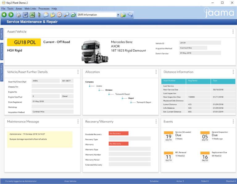 Key2 Workshop Management Screen Shot
